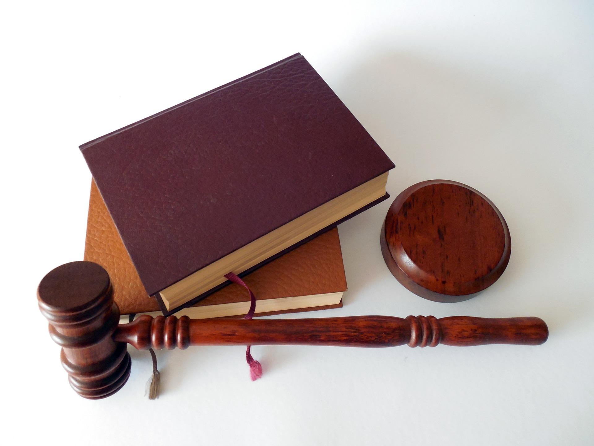 Advokat Lov Hammer Bog Advokatsekretær Bøger Dommer Dom Jura