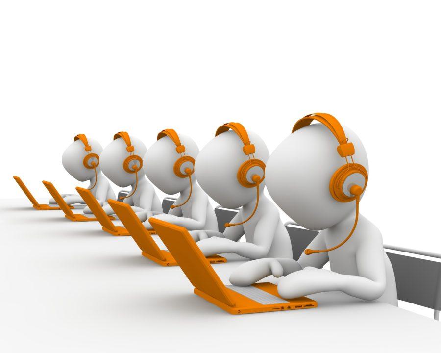 telefon salg kontor skærme