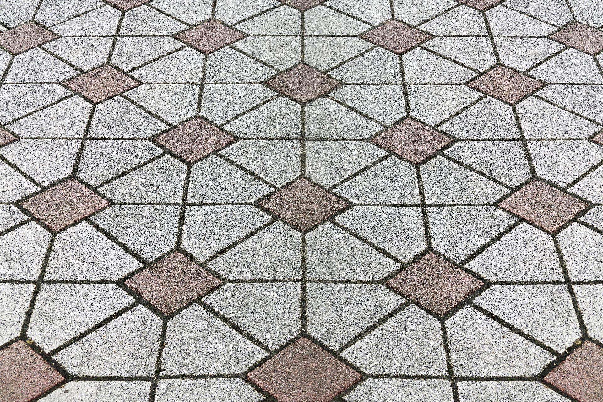 brolægning anlæg sten mønster