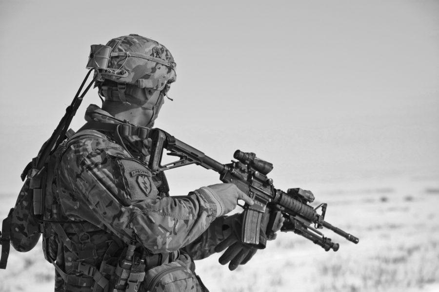 soldat krig våben
