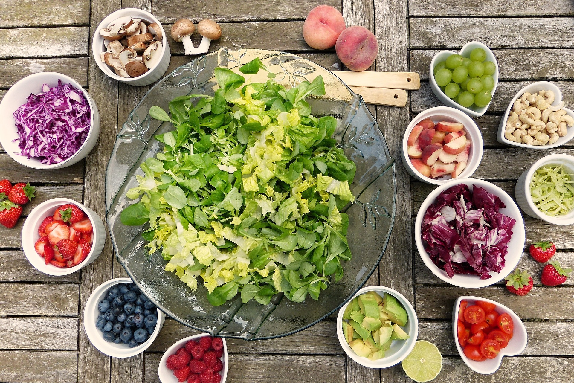 kost diæt mad salat